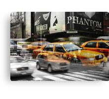 Cab meets Times Square Canvas Print