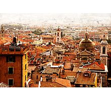 old Nice roofs Photographic Print