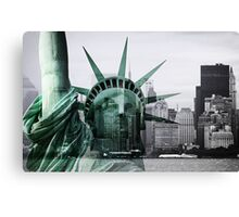 Statue of Liberty meets Manhattan Canvas Print