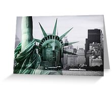 Statue of Liberty meets Manhattan Greeting Card