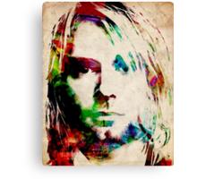 Kurt Cobain Urban Watercolor Canvas Print