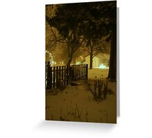 """Snowstorm"" Greeting Card"