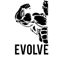 Evolve Fitness Running Muscle BodyBuilding Photographic Print