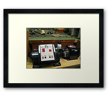 Antique model train transformers  Framed Print