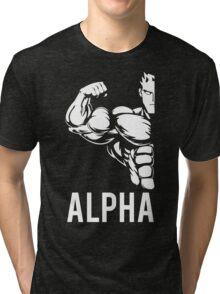 Alpha Fitness Running Muscle BodyBuilding Tri-blend T-Shirt