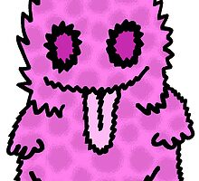 Ghouly Fuzz Pink by Kristopher Kilborn