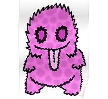 Ghouly Fuzz Pink Poster