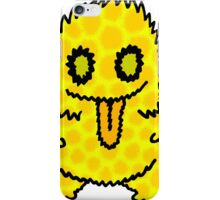 Ghouly Fuzz Yellow iPhone Case/Skin