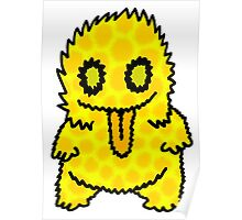 Ghouly Fuzz Yellow Poster