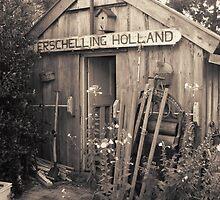 Old garden shed by patjila