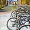 Snowy bikes in Cambridge by night by BeardyGit
