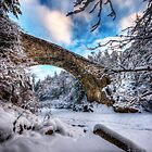 Old Bridge over the Findhorn by Fraser Ross