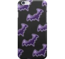 Purple & Black Night Wing Bats Pattern iPhone Case/Skin