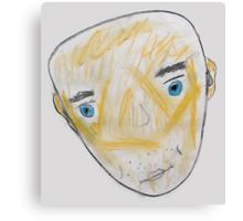 Blue-Eyed Bald Man Canvas Print
