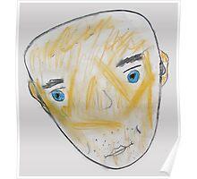 Blue-Eyed Bald Man Poster
