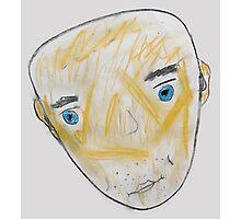 Blue-Eyed Bald Man Photographic Print