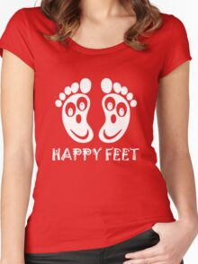 Happy Feet Women's Fitted Scoop T-Shirt