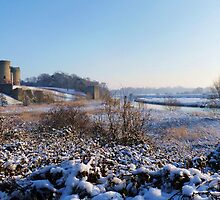 Rhuddlan Castle and River Clwyd Landscape by artfulvistas