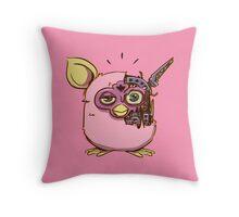 Microwave Furby Throw Pillow