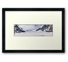 Athabasca Glacier - Panorama Framed Print
