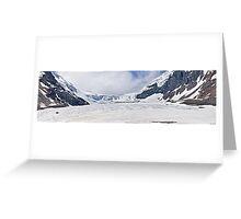Athabasca Glacier - Panorama Greeting Card