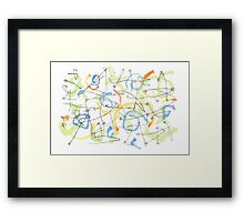 Lines and Colors Framed Print