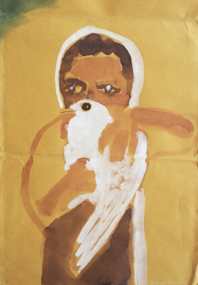 girl with dove by donna malone