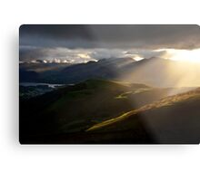 Light beams over Keswick Metal Print