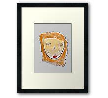 Red-Haired Girl Framed Print