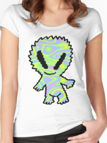 Groovy Psychedelic Alien Women's Fitted Scoop T-Shirt