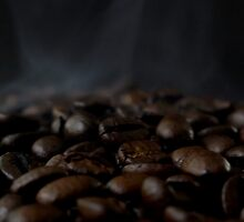 Hot beans, Close up of espresso beans by Andreas  Berheide
