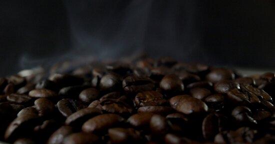 Hot beans, Close up of espresso beans by Andreas  Berheide