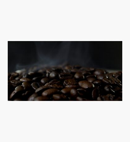 Hot beans, Close up of espresso beans Photographic Print