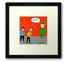 Elf Spock Framed Print