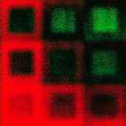 Green Squares on Red by Igor Shrayer