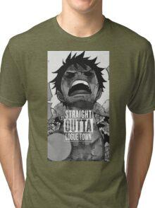 """Luffy  """"Straight Outta LogueTown"""" Tri-blend T-Shirt"""