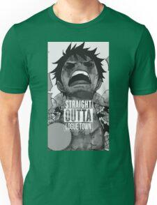 """Luffy  """"Straight Outta LogueTown"""" Unisex T-Shirt"""
