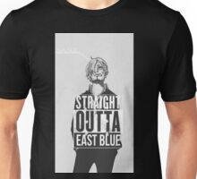 "Sanji ""Straight Outta East Blue"" Unisex T-Shirt"