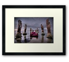 an old chair and an even older pier Framed Print