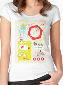 Mix Up Robots Women's Fitted Scoop T-Shirt