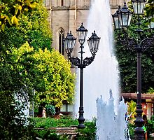 Fountain in front of the Church by Elzbieta Fazel