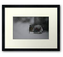 Freezing Blue Framed Print