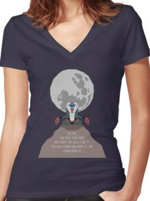 Rafiki -The Past Can Hurt- Women's Fitted V-Neck T-Shirt
