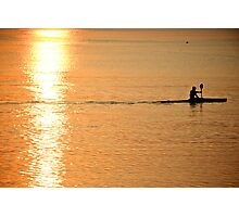 Early morning rower ~ Photographic Print