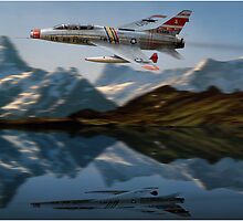 F-100F Over Water by Need4Speed