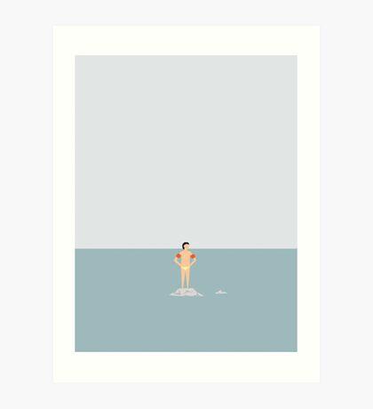 OCEAN SVØMMERE 01 Art Print