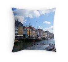 Copenhagen Nyhavn Throw Pillow