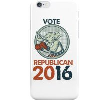 Vote Republican 2016 Elephant Boxer Etching iPhone Case/Skin