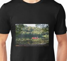 Red Row-Boat Reflections - Grasmere Lake Unisex T-Shirt