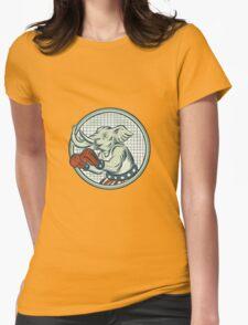 Republican Elephant Boxer Mascot Circle Etching T-Shirt